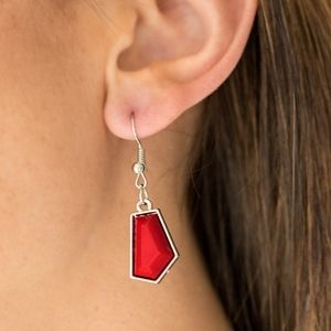 paparazzi Jewelry - Paparazzi Get Up and GEO Red Necklace Set
